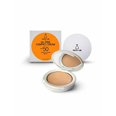 Youth Lab Women's Oil Free Compact Cream Powder Spf 50 Light Color 10G