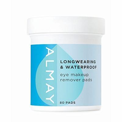 Almay Gentle Eye Makeup Remover Pads, 2 pk./80 ct. (pack of 6)