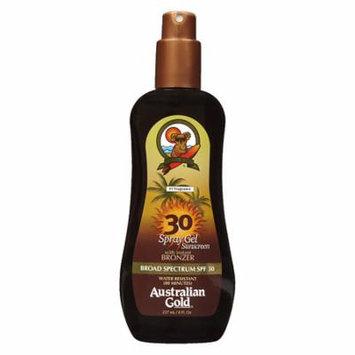 Australian Gold Spray Gel with Instant Bronzer, SPF 30 8.0 fl oz(pack of 1)