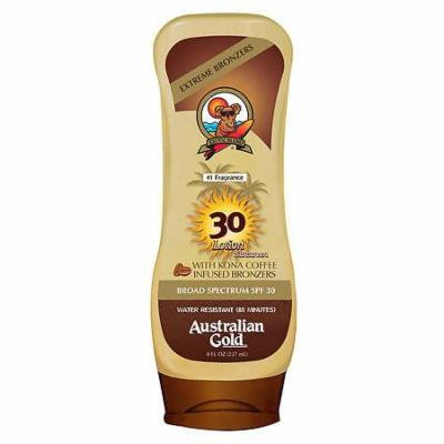 Australian Gold Sunscreen Lotion with Kona Bronzer, SPF 30 Tropical 8.0 oz.(pack of 4)
