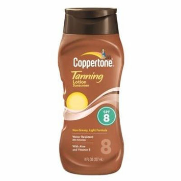 Coppertone Tanning Lotion Sunscreen, SPF 8 8.0 fl oz(pack of 2)