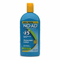NO-AD Sunscreen Lotion, SPF 45 16.0 fl oz(pack of 1)