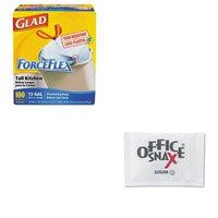 KITCOX70427OFX00021 - Value Kit - Sugar Packets (OFX00021) and Glad ForceFlex Tall-Kitchen Drawstring Bags (COX70427)