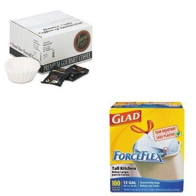 KITCOX70427JAV308042 - Value Kit - Distant Lands Coffee Coffee Portion Packs (JAV308042) and Glad ForceFlex Tall-Kitchen Drawstring Bags (COX70427)
