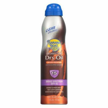 Banana Boat UltraMist Continuous Spray Sunscreen, Protective Dry Oil, SPF 15 6.0 fl oz(pack of 6)