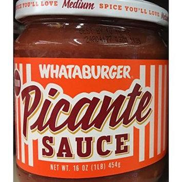Whataburger Salsa Picante Sauce 16oz Glass Jar (Pack of 3) (Picante Sauce - Medium)