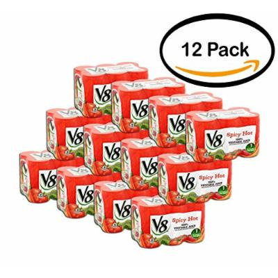 PACK OF 12 - V8 Spicy Hot 100% Vegetable Juice 5.5oz (6 CT/PCK)