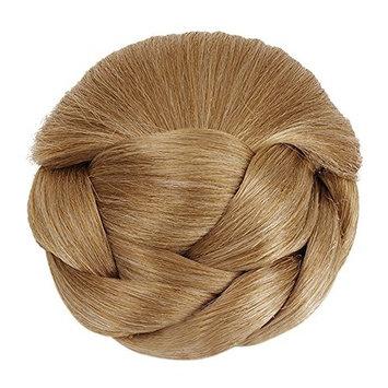 Better-Home Synthetic Hair Braided Chignon Bun Hairpiece Clip in Bun Hair Extensions