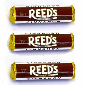 Reed's Classic Cinnamon Hard Candy 3 Pack - Individually Wrapped - Since 1893