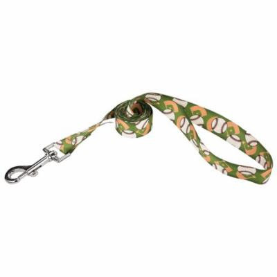 Country Brook Petz™ 1 Inch Baseball Featherweight Dog Leash - 2 Foot