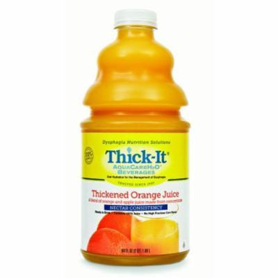 Thick-It AquaCareH2O Thickened Beverage 64 oz. Bottle Orange Ready to Use Nectar Case of 4