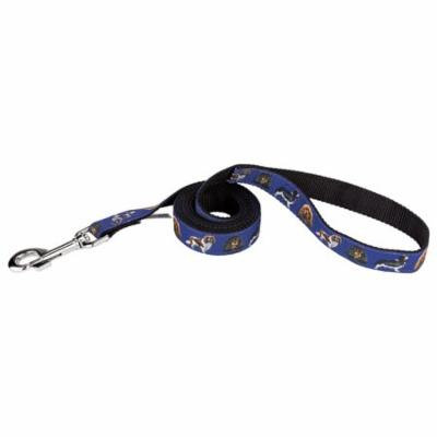 Country Brook Design® 3/4 Inch Cavalier King Charles Ribbon Dog Leash - 2 Foot