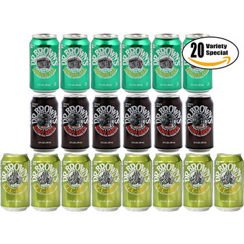 Dr. Brown's Variety Pack! Cel-Ray Soda, Root Beer, Ginger Ale, 12 oz Cans (Pack of 20, Total of 240 Oz)