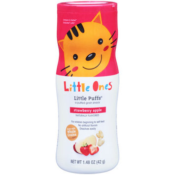 Little Ones Little Puffs, Strawberry Apple, Naturally Flavored, 1.48 oz, (42 g)