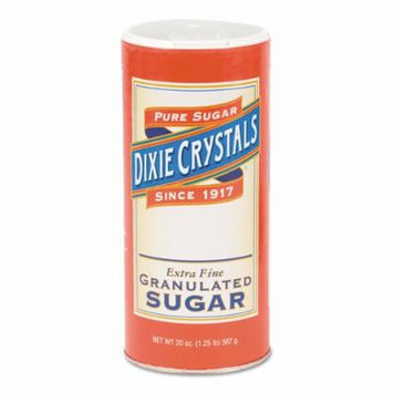 Diamond Crystal Granulated Sugar, 20 oz Canister - Includes 24 per case.