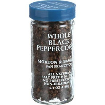 Morton and Bassett Seasoning - Peppercorns - Whole - Black - 2.1 oz - Case of 3