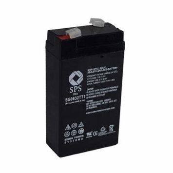 SPS Brand 6 V 3.2 Ah TT1 Replacement Battery with Terminal T1 for PACE 520 VITALMAX PULSE OXIMETER (1 pack)