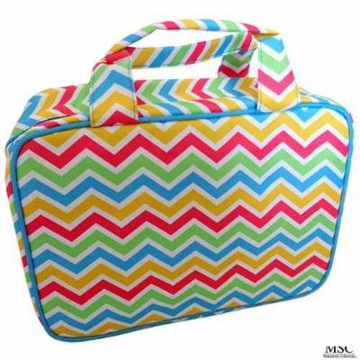 Mainstreet Multi Colored Large Make-Up Toiletries Cosmetic Carolina Travel Bag Case