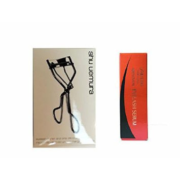 shu uemura eyelash curler N and shiseido adenovital eyelash serum happy eyelash bag, made in Japan