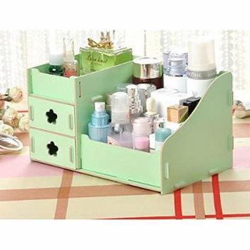 Pixnor Makeup organizer Wooden Makeup Cosmetics Jewelry Storage Box Case Rack Organizer