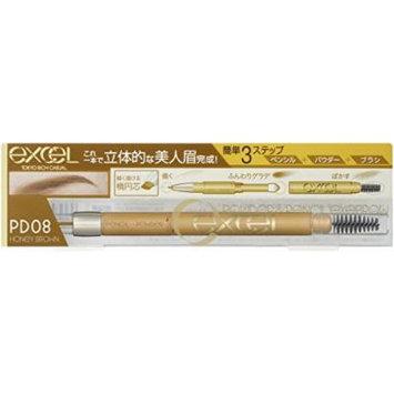 EXCEL Powder & Pencil Eyebrow PD08 Honey Brown