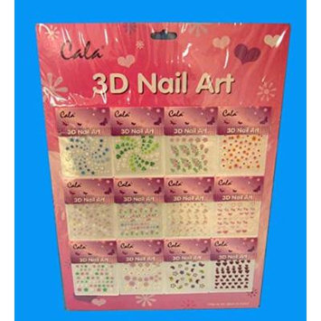 3D Nail Stickers 12pk, Case of 1