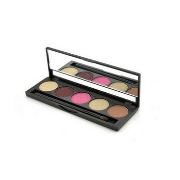 Jolie Micro Fine Mineral 5 Shade Eyeshadow Compact W/ Brush - Diva