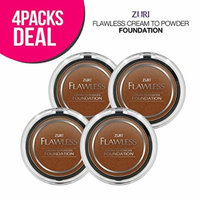 Zuri Flawless Cream to Powder Foundation - Sandstone (Pack of 4)