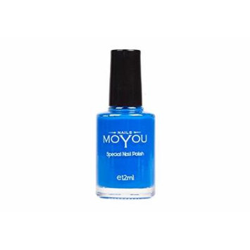 Blue, Crimson Sky, Powder Blue Colours Stamping Nail Polish by MoYou Nail used to Create Beautiful Nail Art Designs Sourced Directly from the Manufacturer - Bundle of 3