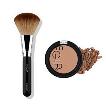 Eglipse Apple Fit Blusher and Flalia Premium Modern Brush SET Shading Brown + Classic Brush