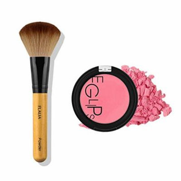 Eglipse Apple Fit Blusher and Flalia Premium Modern Brush SET Sexy Rose + Choco Brush