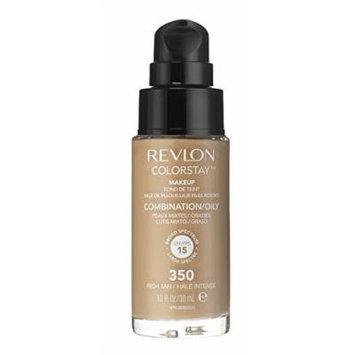 3 x Revlon Colorstay Pump 24HR Make Up SPF20 Comb/Oily Skin 30ml - Rich Tan