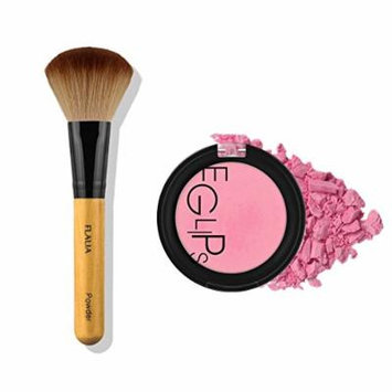 Eglips Apple Fit Blusher and Flalia Premium Modern Brush SET Pure Pink + Choco Brush