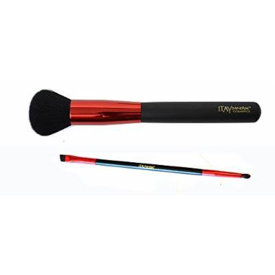 Bundle 2 Items: Itay Mineral Cosmetics Premium Quality Makeup Brushes (Powder & Brow)