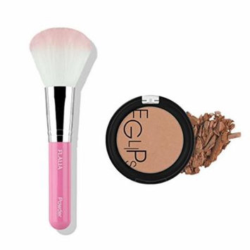 Eglipse Apple Fit Blusher and Flalia Premium Modern Brush SET Shading Brown + Pink Brush
