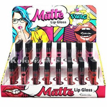 Creative Colors Flat Matte Finish Lip Gloss (Set of 16)