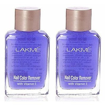 Pack of 2 - Lakme Nail Colour Remover with Vitamin E (27 ml / 0.91 oz)