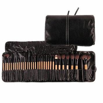 Yosoo 32Pcs Professional Makeup Brush Set Essential Cosmetic Make Up Brushes Kit Black Powder Brush Eyeshadow Eyeliner Eyebrow Brush + Leather Bag