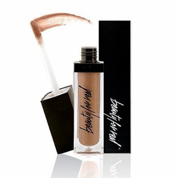 BFR Non-Sticky Lip Gloss, Built-In LED Light, & Mirror, Color: Bronze (BRONZED) by Beauty For Real