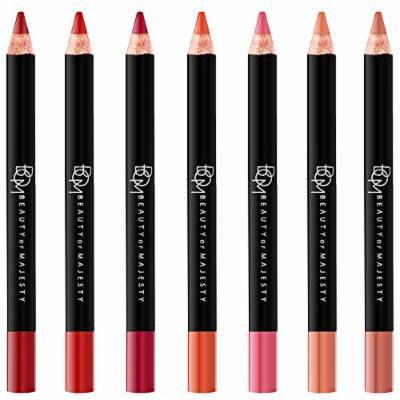 [BOM] Seven Days Lip Pencil 1.5g, Matt & Soft Velvety Texture, 7 colors, long-lasting, Waterproof (00 FULL SET)