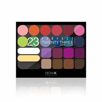 (3 Pack) NICKA K Perfect Twenty Three Colors (Matte) Eyeshadow Palette 01 (AP9A)
