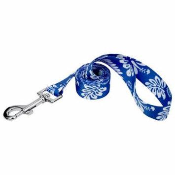 Country Brook Petz® 1 Inch Royal Blue Hawaiian Featherweight Dog Leash-6 Foot