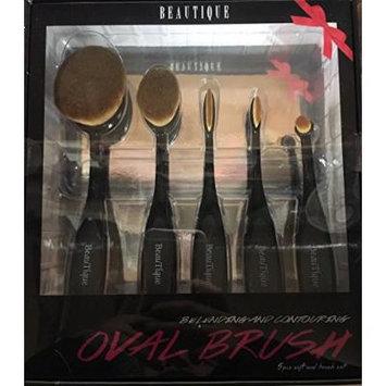 Beautique 5 Piece Oval Brush Set