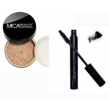 Bundle 2 Items: Mica Beauty Mineral Loose Powder foundation 9 Gram + Itay Mineral Black Mascara for long Lashes (MF-5 CAPUCCHINO)