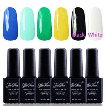 Y&S Gel Nail Polish,Soak Off Gel UV Varnish 6Pcs Sets #016