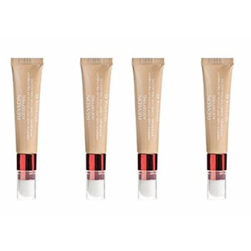 Revlon Age Defying Targeted Dark Spot Concealer, Medium Deep, 0.22 Oz (4 Pack) + Makeup Blender