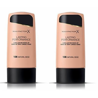 Max Factor Lasting Performance Make-Up 100 Fair (Pack of 2) + Makeup Blender