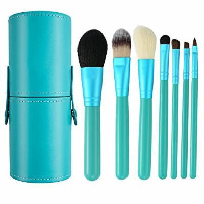 7Pcs Professional Makeup Brush Set Premium Synthetic Fiber Foundation Blush Concealer Eyebrows Eye Shadow Angled brush Lip Make up Brush With Storage Barrel (7Pcs Brush Set)