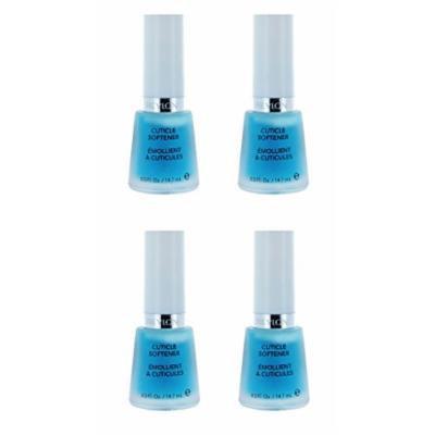 Revlon Cuticle Softener, 0.5 Fluid Ounce (4 Pack) + FREE LA Cross Tweezers 71817