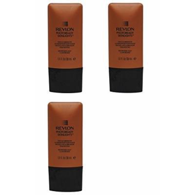 Revlon Photoready Skinlights Face Illuminator ~ Bronze Light 400 (3 Pack) + FREE LA Cross Tweezers 71817